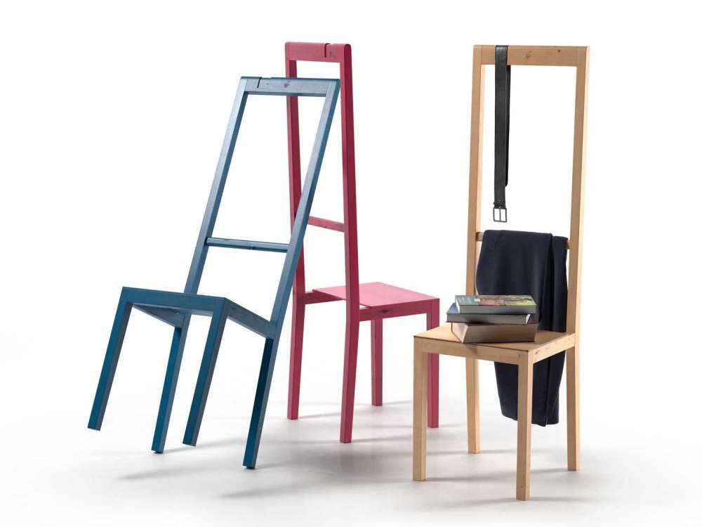 Alfred Chair with Books, Belt and Pants 3d model