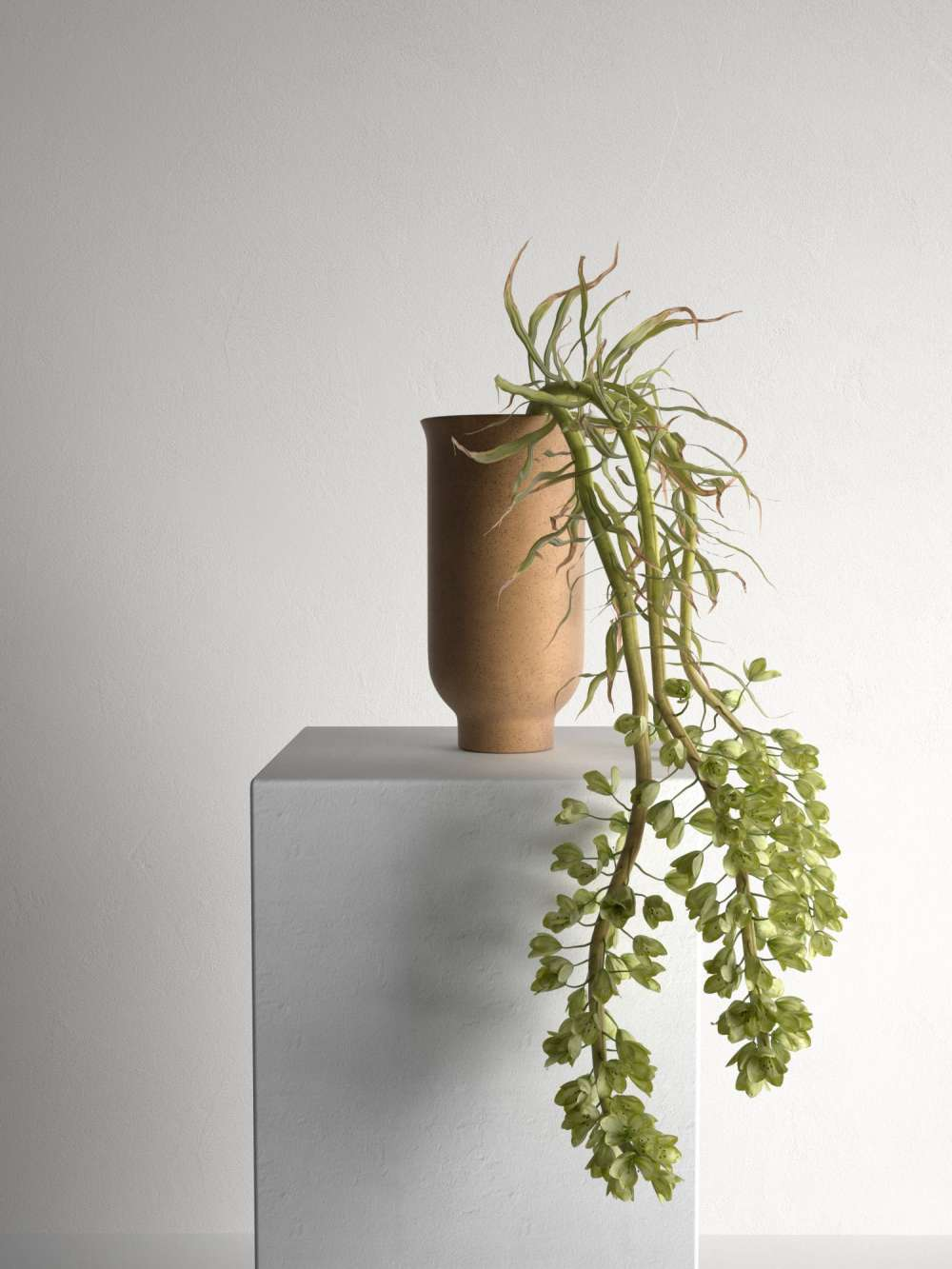 Cyclades Vase with Plants 3d model