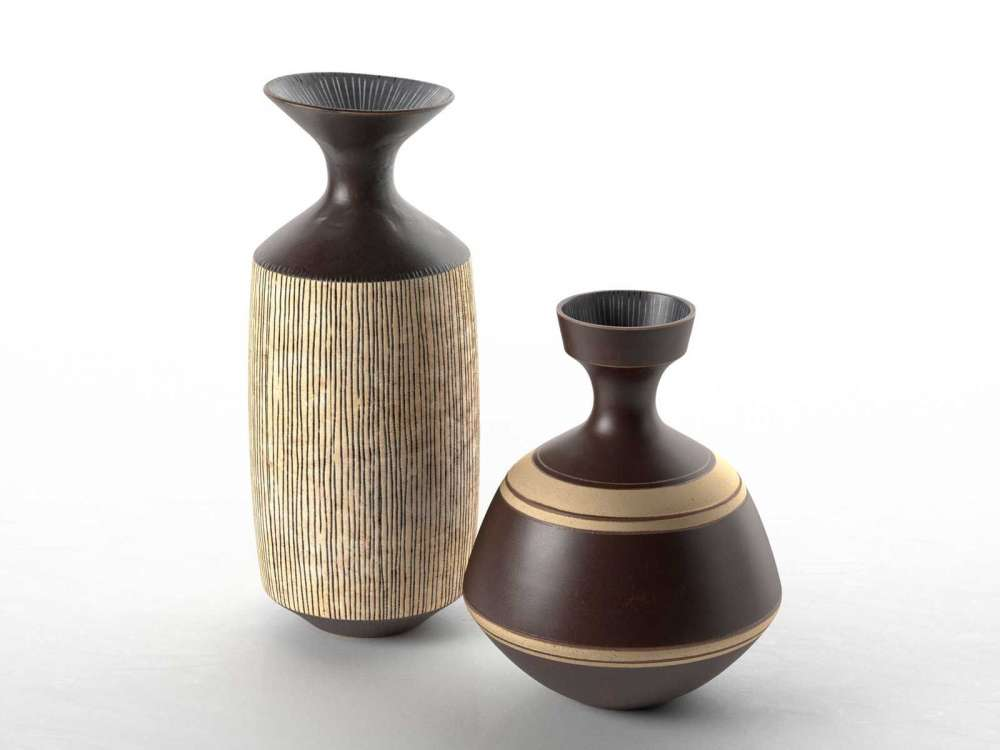 Vases by Lucie Rie 3d model