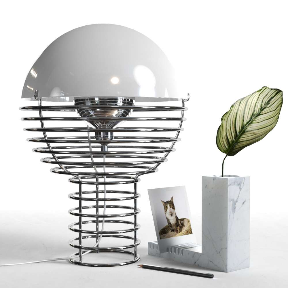 Wire Table Lamp with Calathea 3d model