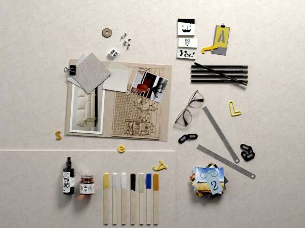 Composition Pictures,Office Supplies, Oil and Glasses 3d model