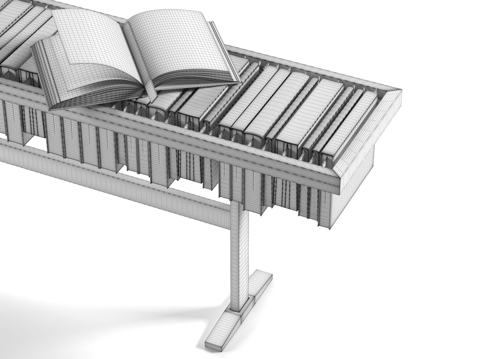 Bookcase Coffee Table