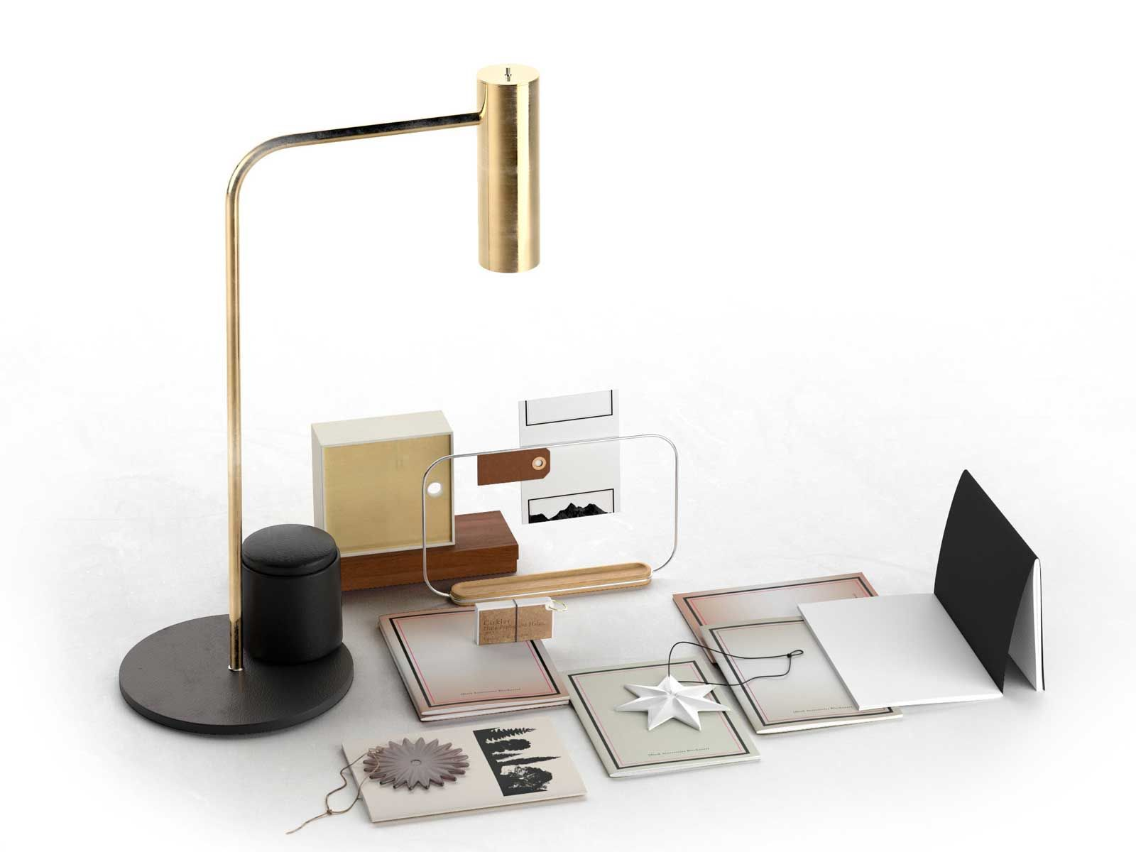 desk accessories with table lamp