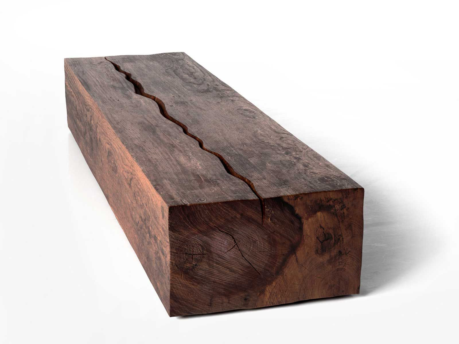 Rectangular Log Coffee Table